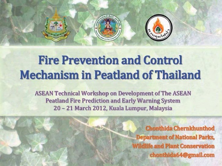 Fire Prevention and Control Mechanism in Peatland of Thailand