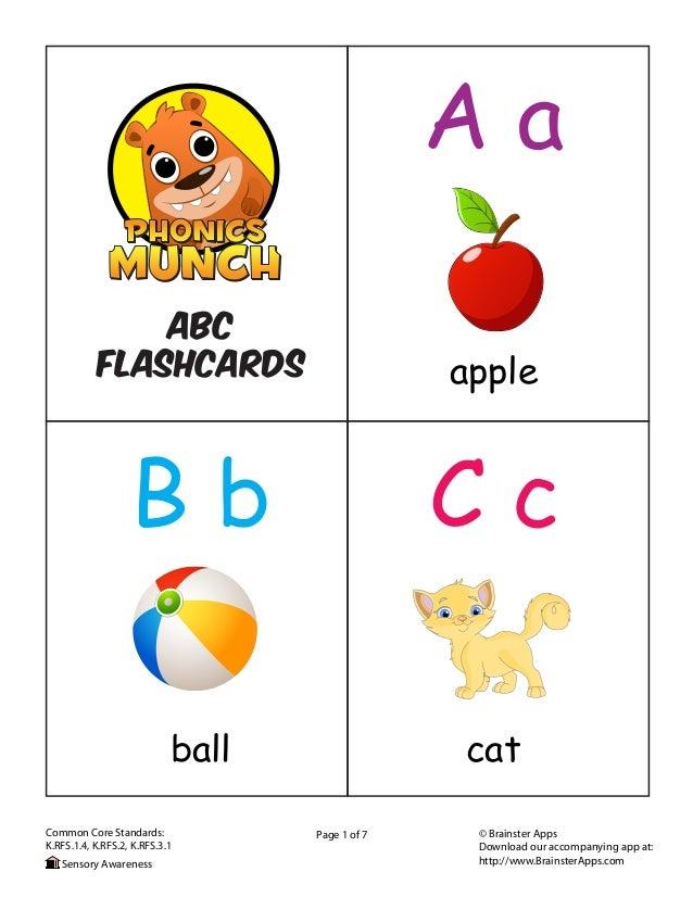 alphabet flash cards download