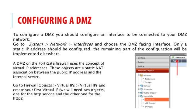 FortiGate Firewall HOW-TO - DMZ