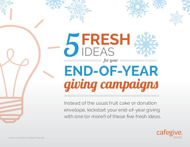5  FRESH IDEAS  /////////////////////////////////////////  for your /////////////////////////////////////////  END-OF-YEAR...