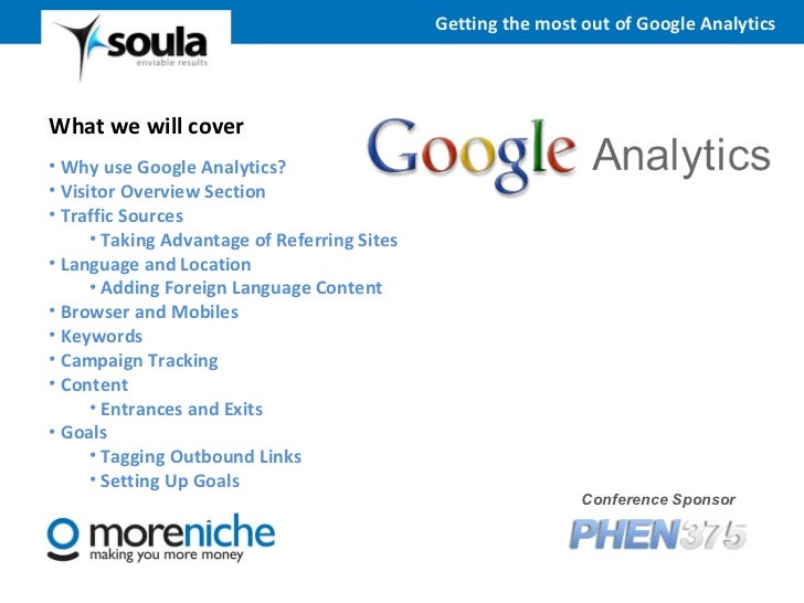5. get the most from google analytics Slide 2