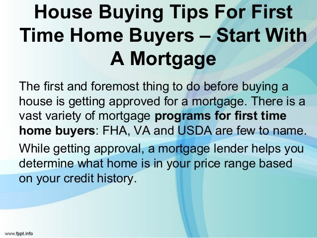 Best options for first time home buyers