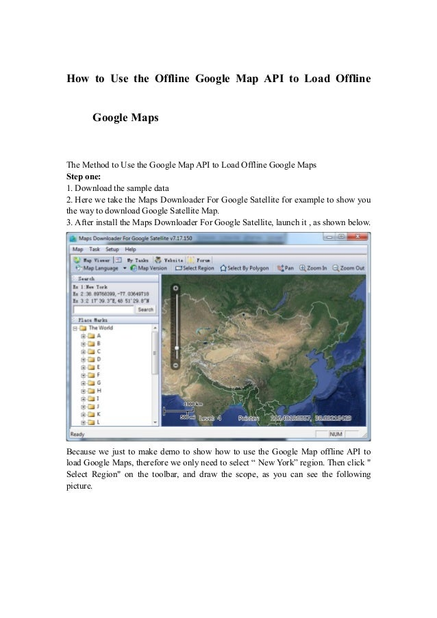 Map New York Offline.How To Use The Offline Google Map Api To Load Offline Google Maps
