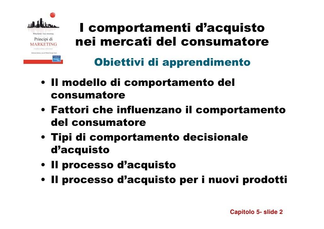 5   i comportamenti d'acquisto nei mercati del consumatore Slide 2
