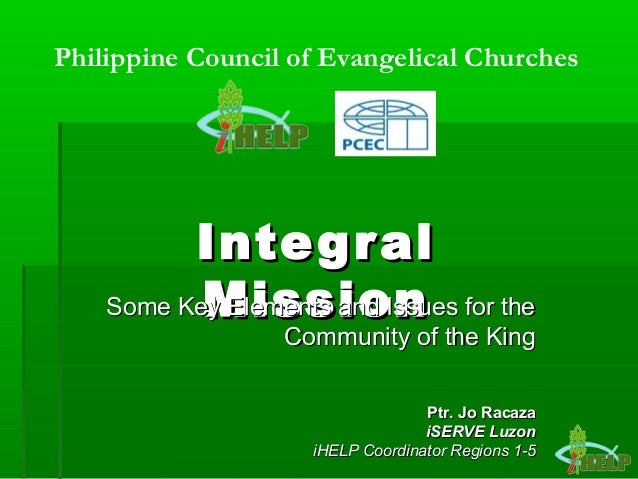 IntegralIntegral MissionMissionSome Key Elements and Issues for theSome Key Elements and Issues for the Community of the K...