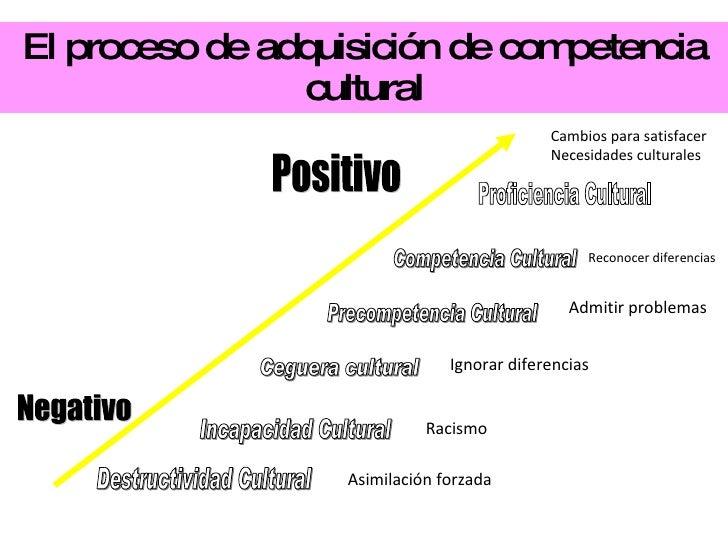 El proceso de adquisición de competencia cultural Proficiencia Cultural  Competencia Cultural Precompetencia Cultural Cegu...