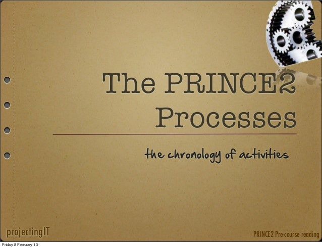 The PRINCE2                          Processes                         the  chronology  of  activities  projectingIT      ...