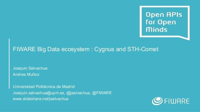 FIWARE Big Data ecosystem : Cygnus and STH-Comet Joaquin Salvachua Andres Muñoz Universidad Politécnica de Madrid Joaquin....