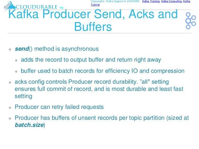 Kafka Tutorial Advanced Producers