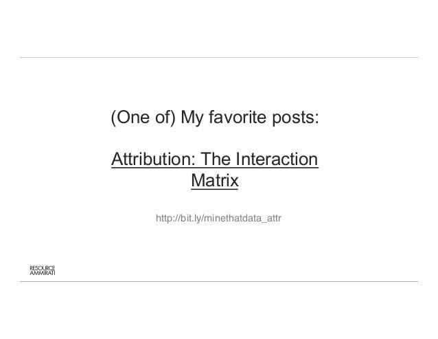 Kyle Rudy - Mine That Data / Attribution Management Slide 3