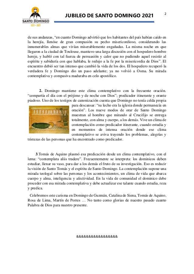 La contemplación prueba su verdad en la predicación (Tras los pasos de Santo Domingo de Guzmán Nº 5) Slide 2