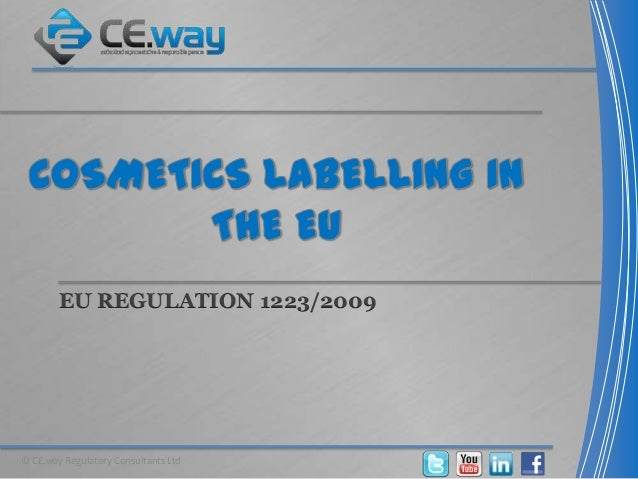 regulation ec no 1223 2009 of the Interpreting cosmetics regulation (ec) no 1223/2009 - 5 common mistakes, including compliance with cosmetic good manufacturing practice iso 22716.