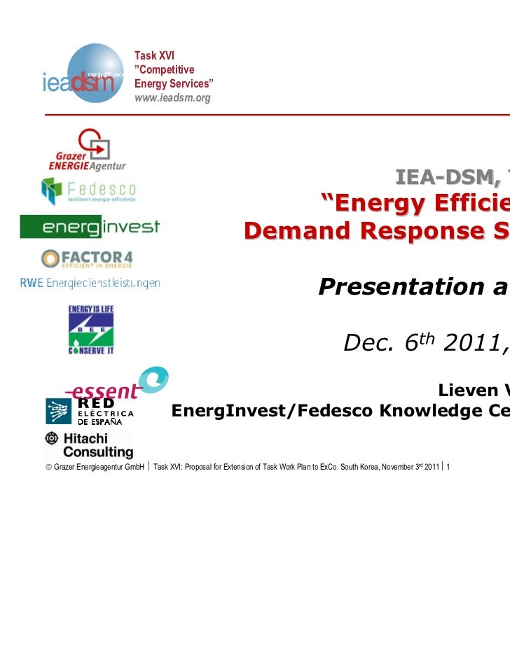 """Task XVI                           """"Competitive                           Energy Services""""                           www.i..."""