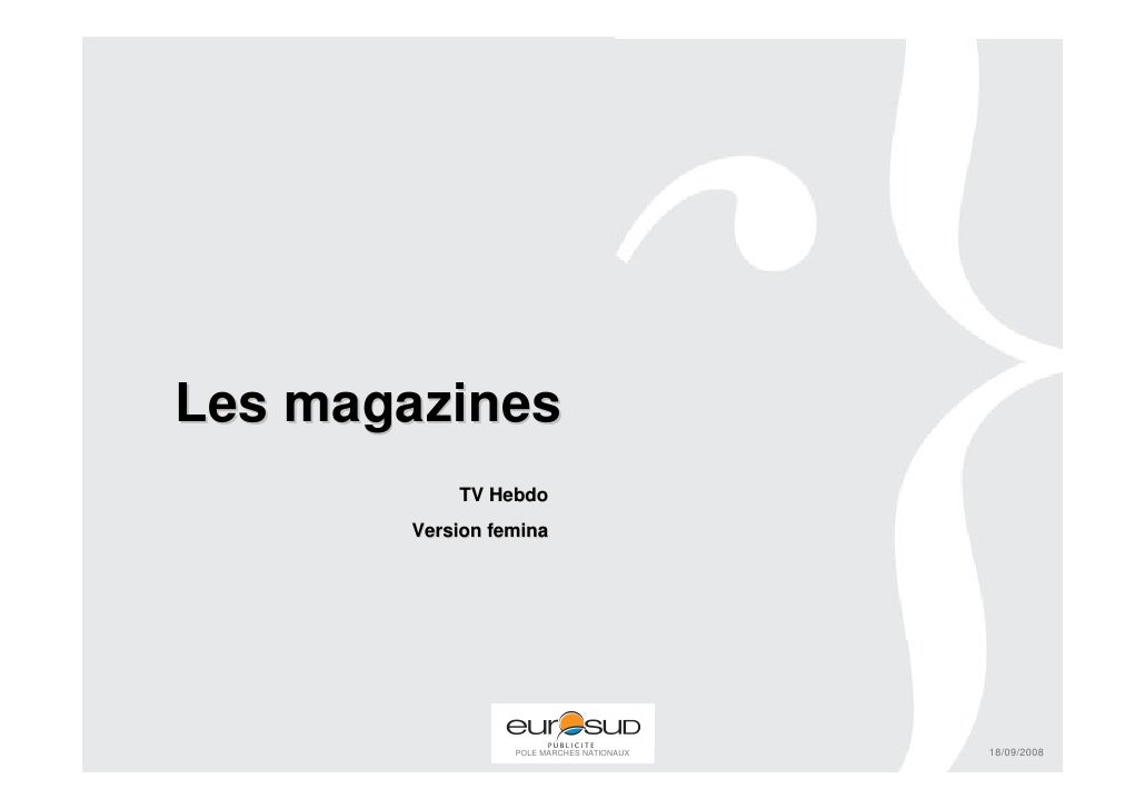 Les magazines TV Magazine Version Femina
