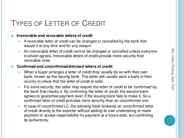 Credit Terms Letter Sample 8 Letter Of Credit Example Business