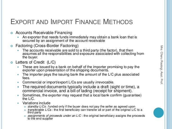 trade finance products pdf