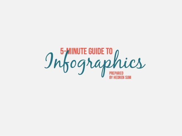 5-MINUTE GUIDE TO  Infographics Prepared by Hedren Sum