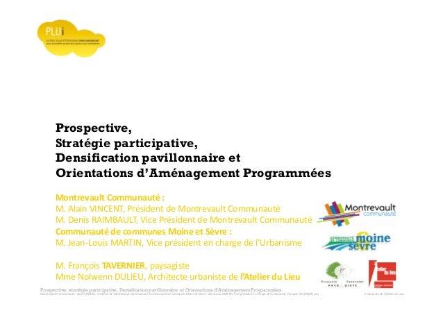 Prospective, stratégie participative, Densification pavillonnaire et Orientations d'Aménagement Programmées Montrevault Co...