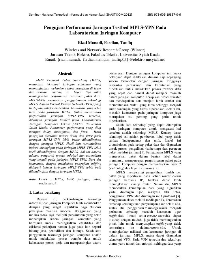 SeminarNasionalTeknologiInformasidanKomunikasi(SNASTIKOM2012)          ISBN978‐602‐19837‐0‐6         Pengujian P...