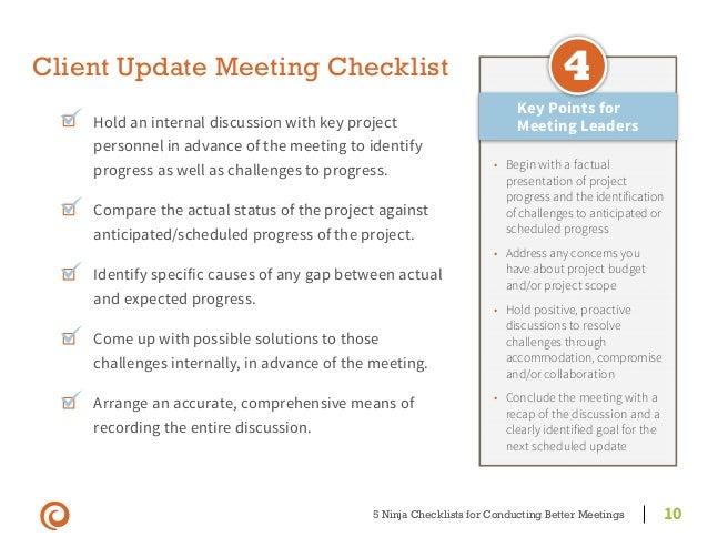meeting checklist