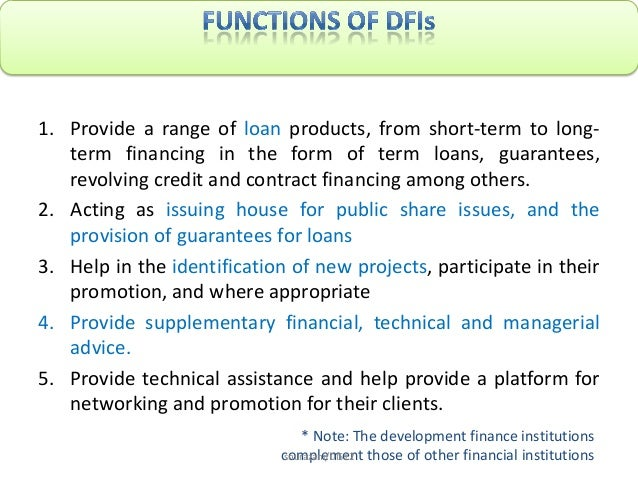5 non-bank financial intermediaries