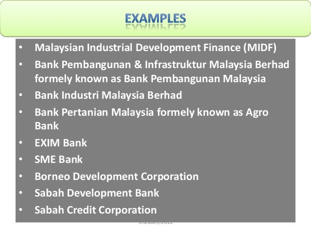 5 non-bank financial intermediaries