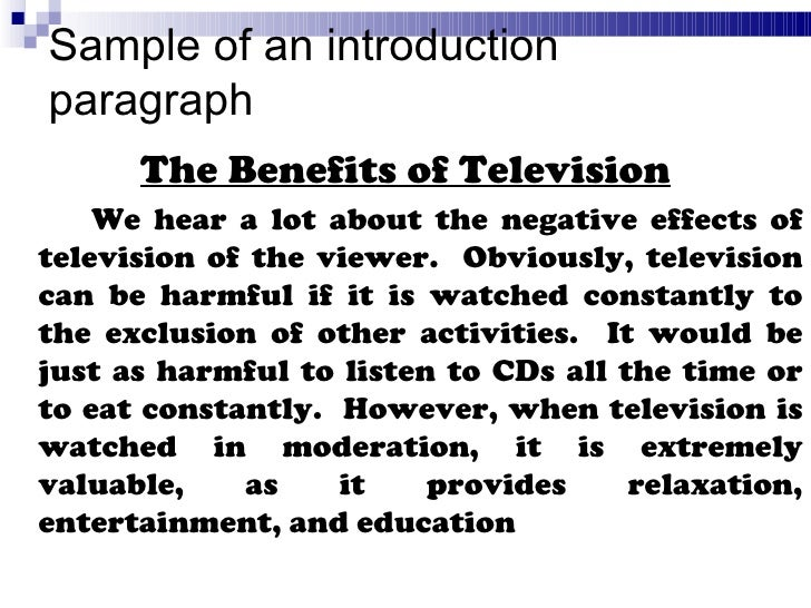 Essay on television advantages and disadvantages