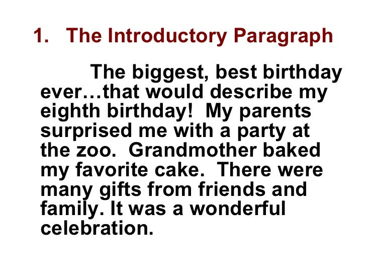 essay my grandmother birthday