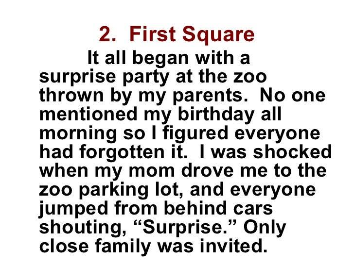 My first birthday essay
