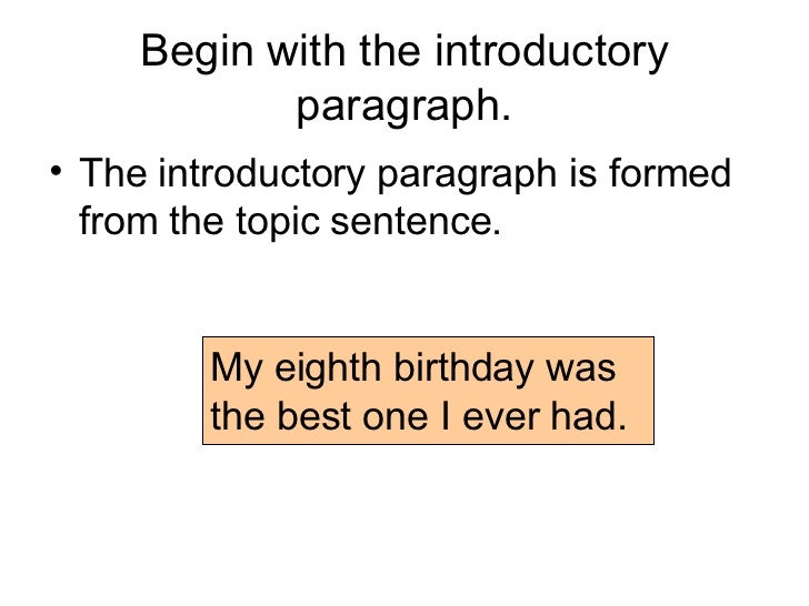 paragraph essay 3 begin the introductory paragraph