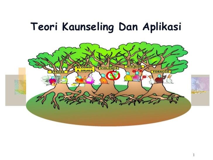 Teori Kaunseling Dan Aplikasi                                1