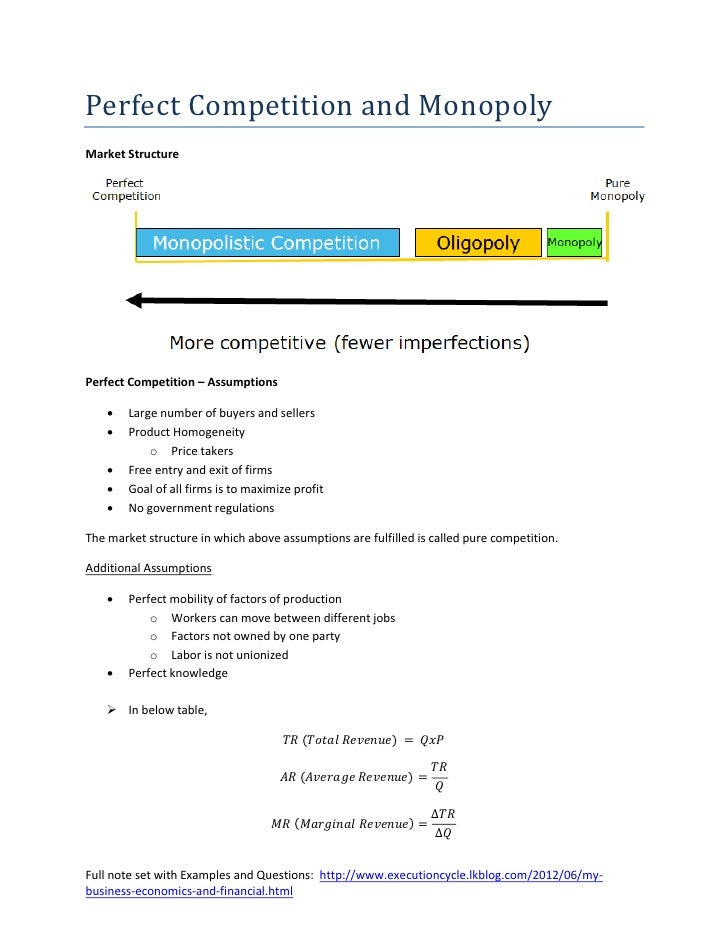 monopolistic competition vs perfect competition essay  · difference between monopoly and oligopoly difference between perfect competition and monopolistic difference-between-perfect-competition-and-vs.