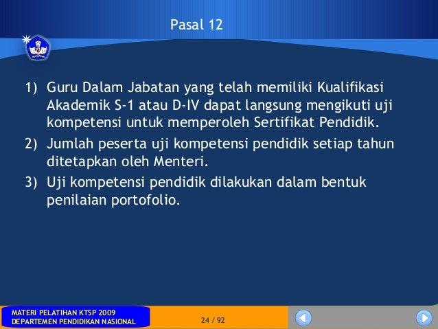 MATERI PELATIHAN KTSP 2009DEPARTEMEN PENDIDIKAN NASIONALMATERI PELATIHAN KTSP 2009DEPARTEMEN PENDIDIKAN NASIONAL 24 / 921)...