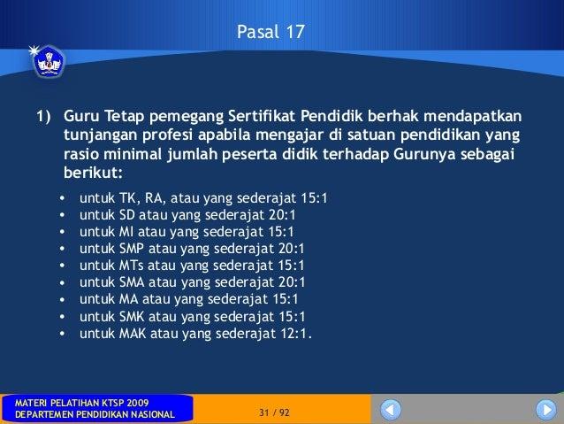 MATERI PELATIHAN KTSP 2009DEPARTEMEN PENDIDIKAN NASIONALMATERI PELATIHAN KTSP 2009DEPARTEMEN PENDIDIKAN NASIONAL 31 / 921)...