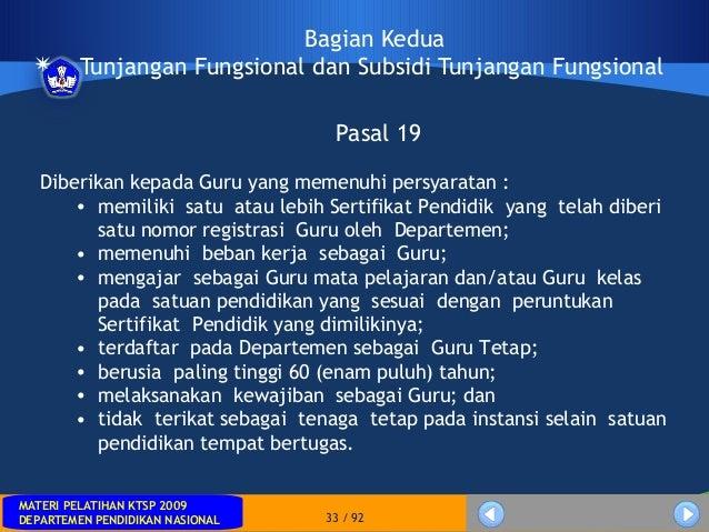MATERI PELATIHAN KTSP 2009DEPARTEMEN PENDIDIKAN NASIONALMATERI PELATIHAN KTSP 2009DEPARTEMEN PENDIDIKAN NASIONAL 33 / 92Ba...