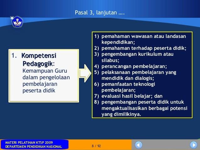 MATERI PELATIHAN KTSP 2009DEPARTEMEN PENDIDIKAN NASIONALMATERI PELATIHAN KTSP 2009DEPARTEMEN PENDIDIKAN NASIONAL 8 / 921) ...