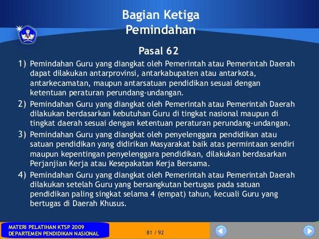 MATERI PELATIHAN KTSP 2009DEPARTEMEN PENDIDIKAN NASIONALMATERI PELATIHAN KTSP 2009DEPARTEMEN PENDIDIKAN NASIONAL 81 / 92Ba...