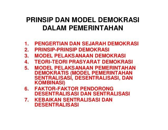 Sebutkan Dan Jelaskan Prinsip Prinsip Kehidupan Demokratis ...