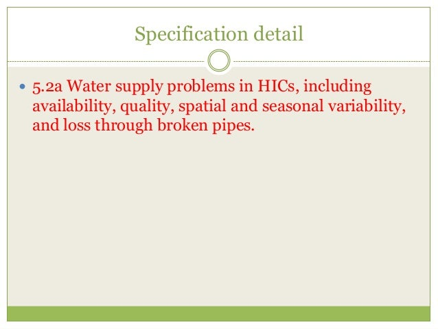 What are the problems with water supply in LICs?