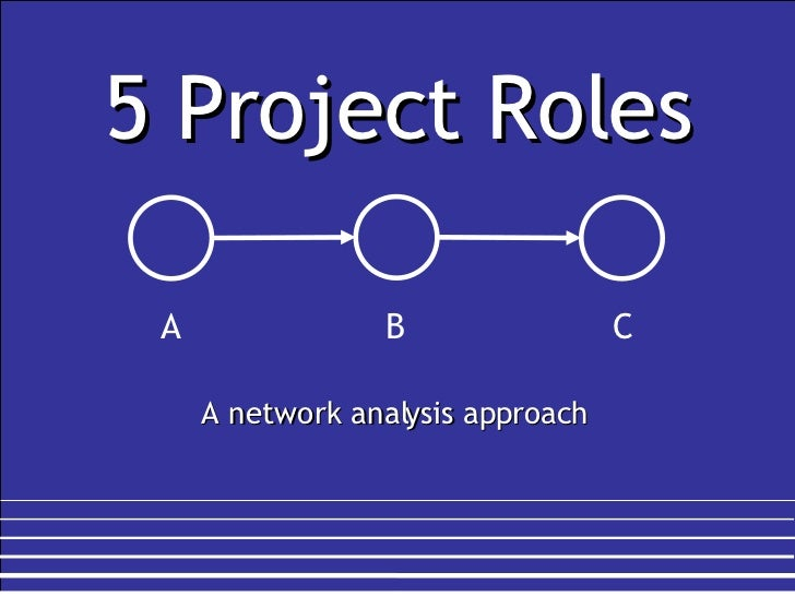 5 Project Roles A network analysis approach A B C