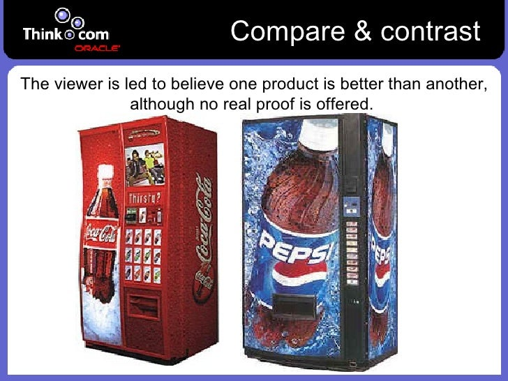 compare and contrast the good and bad side of advertising No matter what comparison and contrast topics you write on, you need to keep to the traditional structure of the academic paper the best way to decide on two good compare and contrast topics to analyze is to brainstorm and write down possible marriage and divorce: two sides of the coin.