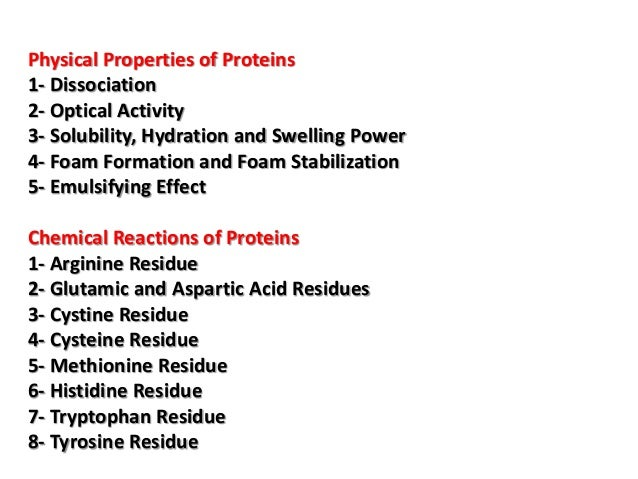 Physical And Chemical Properties Of Proteins Slideshare