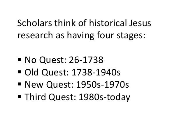 Milestones in the Quest for the Historical Jesus