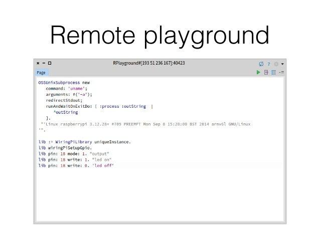 Remote playground