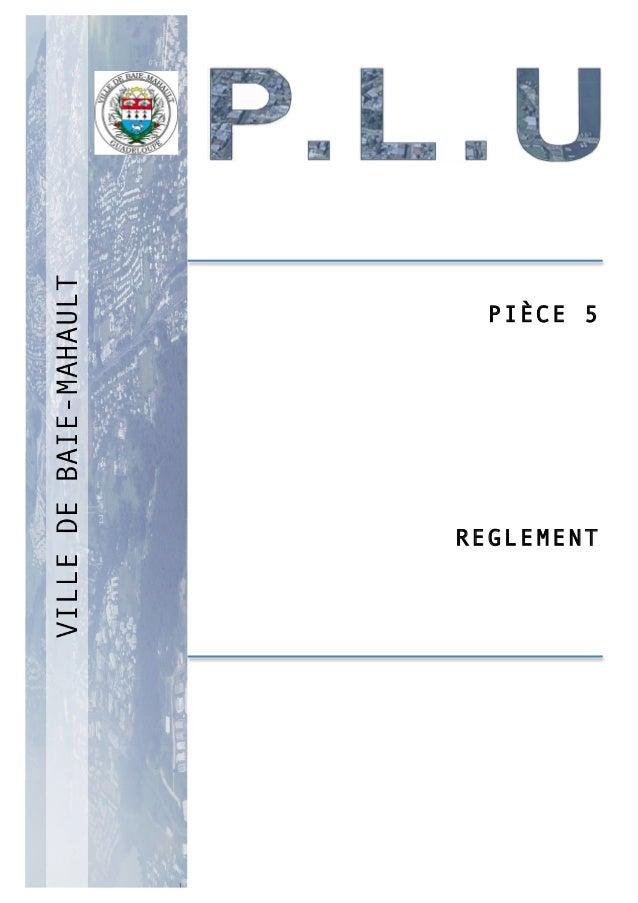 P 1 PIÈCE 5 REGLEMENT