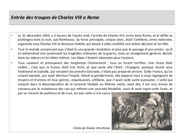 Entrée des troupes de Charles VIII a Rome • Le 31 décembre 1494, a 3 heures de l'après-‐...