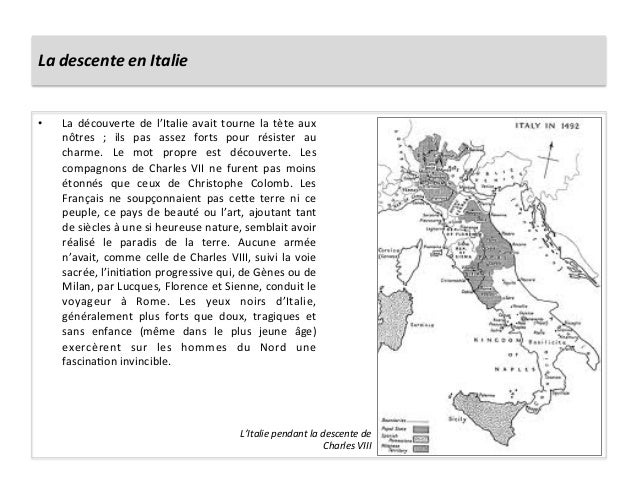 La descente en Italie • La découverte de l'Italie avait tourne la tète aux nôtres  ;  ils ...