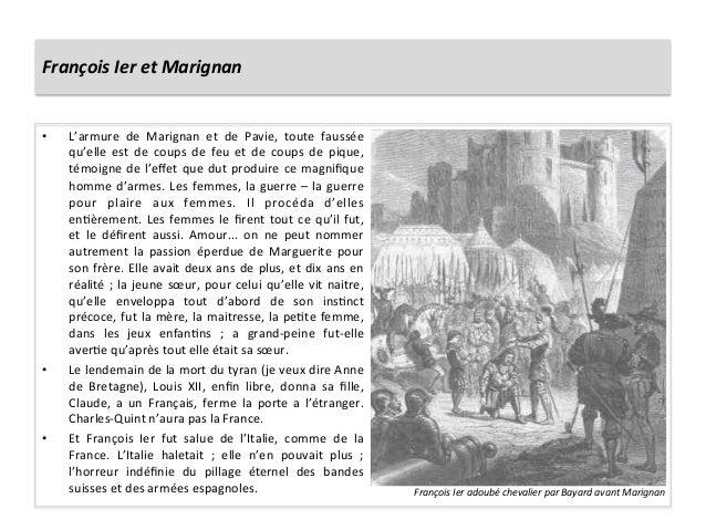 François Ier et Marignan • L'armure  de  Marignan  et  de  Pavie,  toute  faussée qu'elle  est...