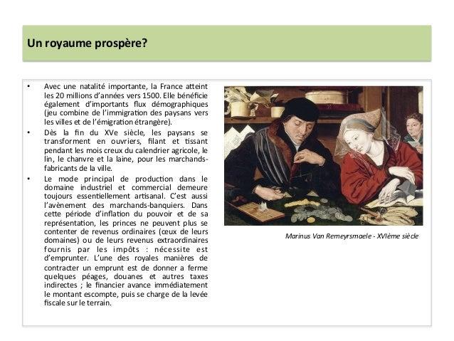 Un royaume prospère? • Avec  une  natalité  importante,  la  France  a^eint les 20 millions d'a...