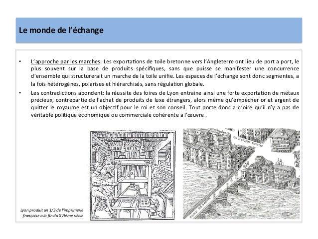 Le monde de l'échange • L'approche par les marches: Les exportaGons de toile bretonne vers l'...